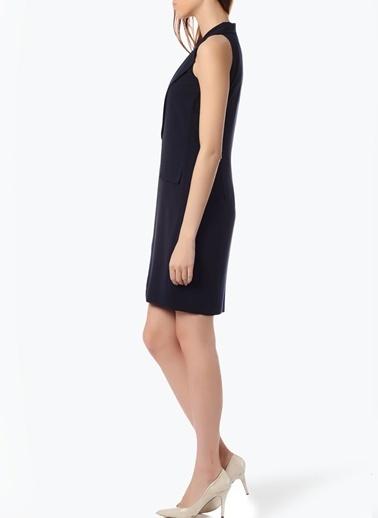 Cotton Bar Kolsuz Ceket Elbise Lacivert
